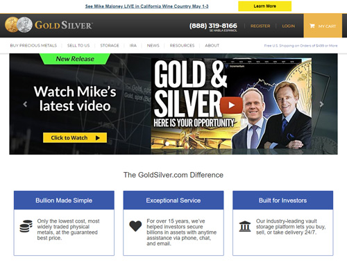 goldsilver website