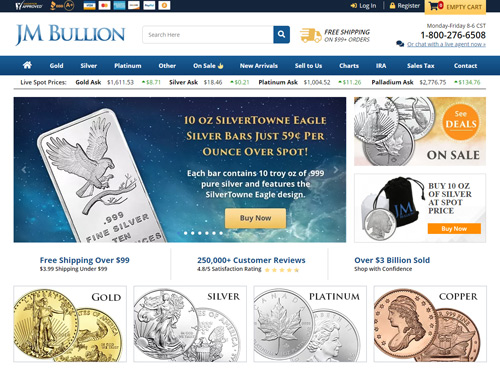 jmbullion website